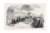 Ascot Races, Arrival of the Illustrious Visitors Giclee Print
