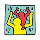Untitled Pop Art Giclee-trykk av Keith Haring