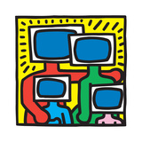 Untitled Pop Art Reproduction procédé giclée par Keith Haring