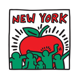 Untitled Pop Art - New York Reproduction procédé giclée par Keith Haring