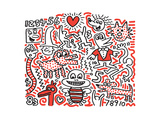 Untitled Pop Art Stampa giclée premium di Keith Haring