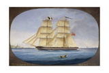 Maltese Barquentine Ardita, Captain Salvatore Attard, Oil on Canvas Giclee Print