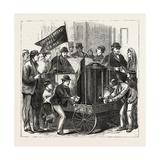 New York: Free Service of Coffee and Bread. U.S., 1880 1881 Giclee Print