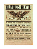 Civil War Recruiting Poster, 1861 (Print) Reproduction procédé giclée