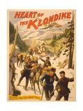 Poster Advertising 'Heart of the Klondike' by Scott Marble, 1897 Lámina giclée