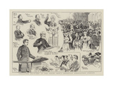 Character Sketches at the Young Men's Christian Association Jubilee Giclée-tryk