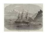 HMS Cadmus Ashore on Salcombe Bar, Devon Giclée-Druck