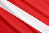 Scuba Flag Waving Art by  yossarian6