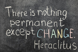 Change is Permanent Fotografie-Druck von Yury Zap