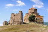 Beautiful Nature and Jvari Monastery, Georgian Orthodox Monastery of the 6Th Century on the Mountai Photographic Print by  siempreverde22