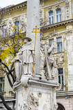Sculpture on the Column of the Old City of Bratislava, Slovakia Photographic Print by  siempreverde22