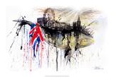 Northern Whale Poster von Lora Zombie