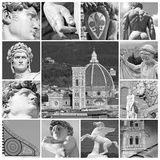 Art of Florence - Collage Fotografie-Druck von Malgorzata Kistryn