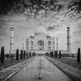 Taj Mahal on Sunrise Sunset, Agra, India Opspændt lærredstryk af  f9photos