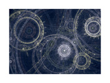Blueprint of a Fantasy Steampunk Machine Giclée-tryk af Martin Capek