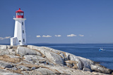 Peggy's Cove Lighthouse, Nova Scotia, Canada. Fotografisk tryk af  onepony