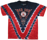 Youth: MLB - Red Sox Tie Dye Logo Tシャツ