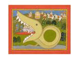 Krishna and the Cowherds Enter Agasura's Mouth, C.1800 Lámina giclée