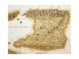 Map of Island of Trinidad, 1777, Trinidad and Tobago, 18th Century Impressão giclée