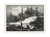 A Trout Pool on the Nepigon, Canada, Nineteenth Century Giclée-Druck