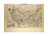 Map of Senegal Sudan and Guinea 1896 Giclée-tryk