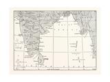 Map of Lower India and Ceylon, Sri Lanka Giclee Print