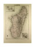 Map of Madagascar and Comoros 1896 Giclée-Druck