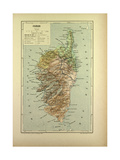 Map of Corse France Giclée-vedos