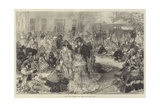 Ascot Races, Luncheon Time Behind the Grand Stand Giclee Print