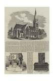 The Church of St Mary in Stoke Newington Giclée-tryk