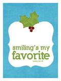 Smiling's my Favorite Impressão giclée por Cheryl Overton