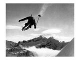 Ski racer Reproduction procédé giclée par  Underwood