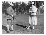 Couple Golfing Gicléedruk van  Underwood