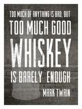 Good Whiskey Giclee Print by Cheryl Overton