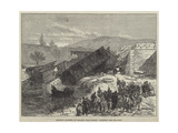 Railway Accident at Antibes, Near Cannes, Dragging for the Dead Giclee Print