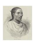 King John of Abyssinia Giclée-tryk