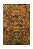 A Tibetan Thanka with a Central Figure of Heruka Giclée-tryk