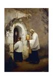 Viaticum, Painting by Alexis-Marie-Louis Douillard (1835-1905) Giclée-tryk