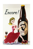 Encore! (Girl, Bottle and Harp), C.1938 Giclée-tryk