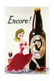 Encore! (Girl, Bottle and Harp), C.1938 Giclee Print