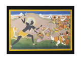Kali Slaying Demons, C.1800-1820 Giclée-tryk