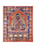 A Thang-Ka Depicting the Mahasiddha Bir Va Pa, C. 1600 Giclée-tryk