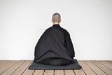 A Zen Buddhist Nun Is Practicing Zen-Meditation (Zazen) Photographic Print