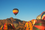 Hot Air Ballooning, Posole Cook-Off, Socorro, New Mexico Reproduction photographique