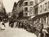 Rue Lepic, Montmartre, Paris, 1880 Valokuvavedos
