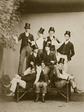 Group Portrait of Young Men Reproduction photographique