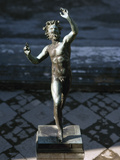 Statue of a Dancing Faun, Bronze, House of the Faun, Pompeii Fotografisk tryk