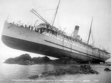 S.S. Princess May Wrecked on Sentinel Island, Alaska, August 5, 1910 Fotografie-Druck