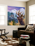 Big Buck Pro Open Season Cabinet Art Carta da parati decorativa di John Youssi