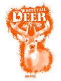 Whitetail Deer Spray Paint Orange Decalcomania da muro di Anthony Salinas
